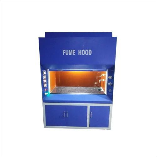 FUME HOOD (WOODEN) HEAVY DUTYMOTOR & Work Area Covered with s. steel  Chamber SS 304 GRADE