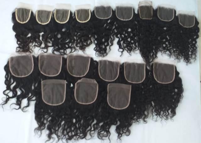 Swiss lace Transparent Curly Closure 4x4