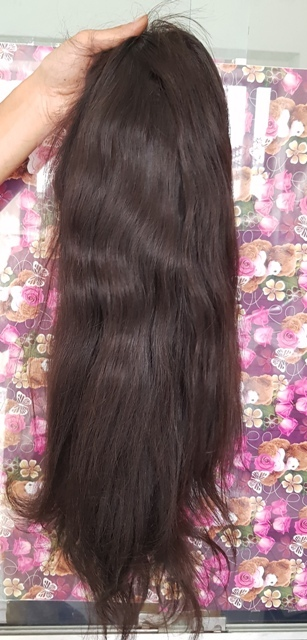 Straight Front Lace Human hair Wig