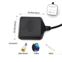 GPS Active Antenna Passive GPS GSM Antenna Fakra SMA MCX With RG174 Cable 1M