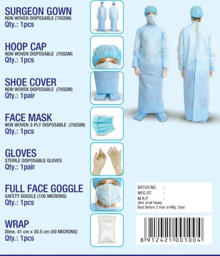 Personal Protective Equipment-PPE KIT 90 GSM