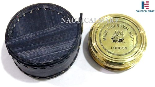 Nauticalmart Brass Compass Made For Royal Navy London Pocket Compass With Case (Case-3)