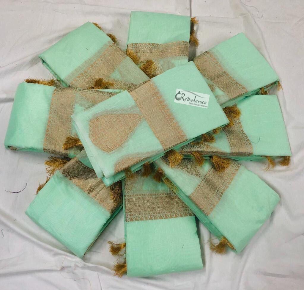 Handwoven Pure Linen Saree