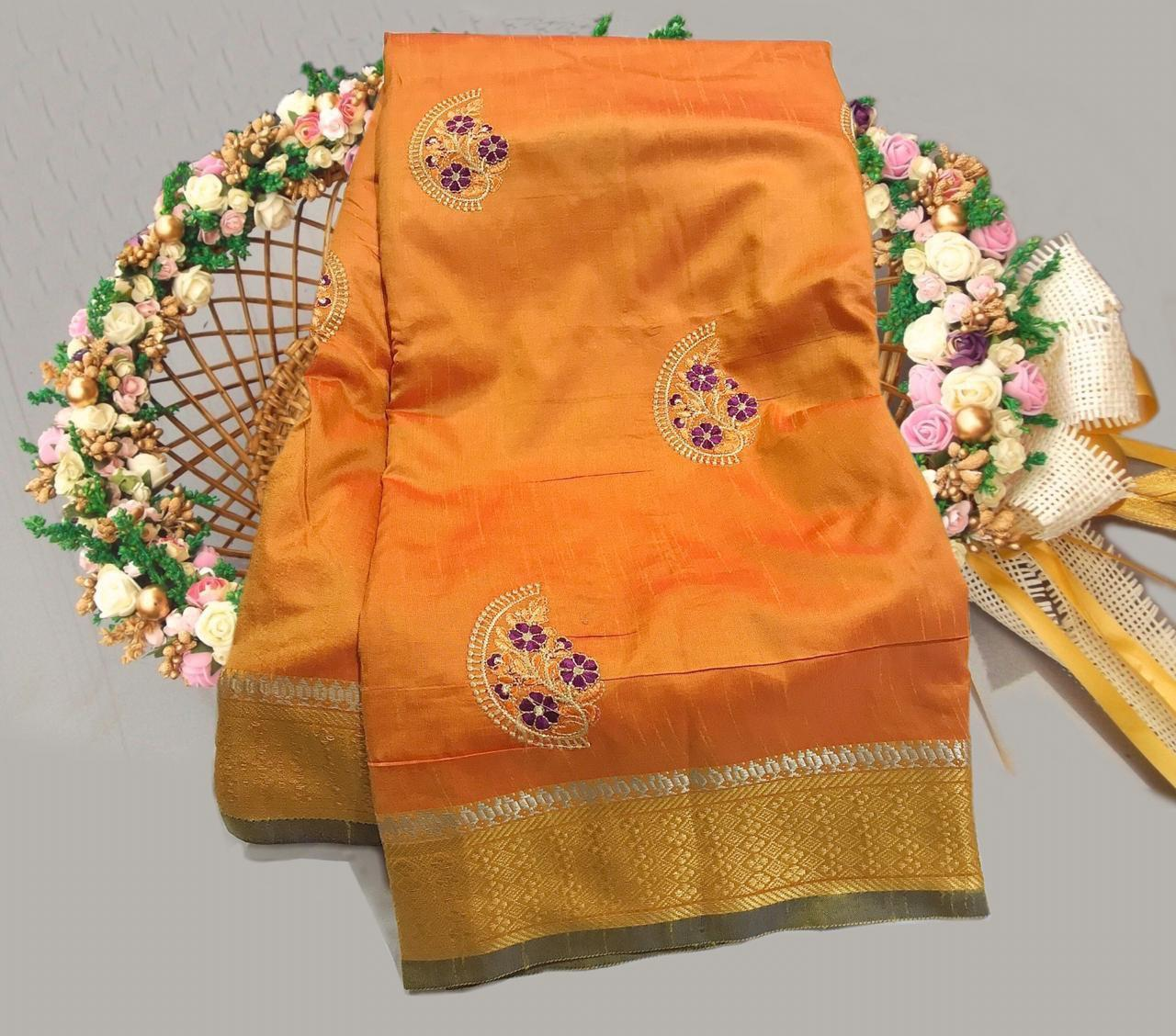 Surat Heavy Embroidery Sarees