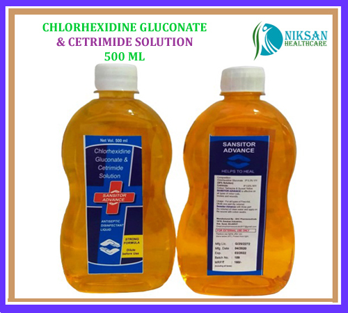 CHLORHEXIDINE GLUCONATE & CETRIMIDE SOLUTION 500ML