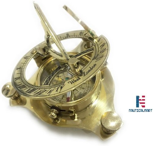 NAUTICALMART NM031890A Brass Sundial Compass - Case Pack of 16