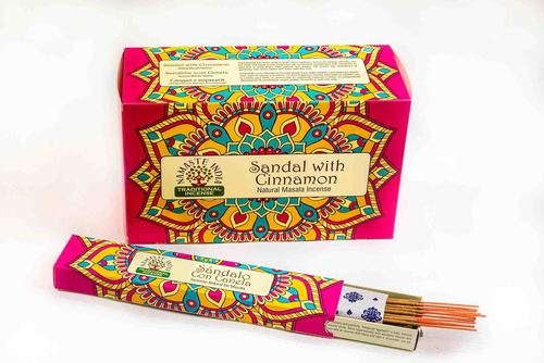 SANDAL WITH CINNAMON NATURAL MASALA INCENSE