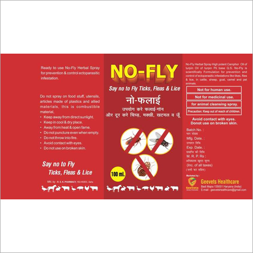 100ml Spray for Fly And Ticks Flies and Lice