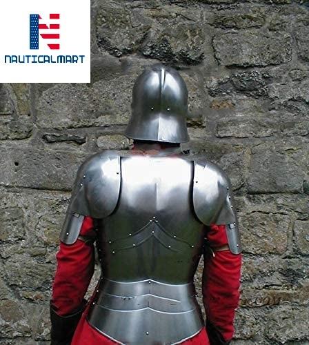 NauticalMart Knight Half Suit of Armor Breastplate with Helmet Medieval Armor Halloween Costume