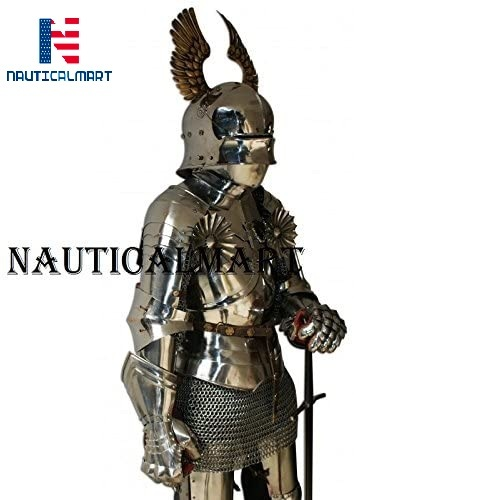 NauticalMart Medieval Reenactment Knight Half Suit of Armor with Chainmail Halloween Costume