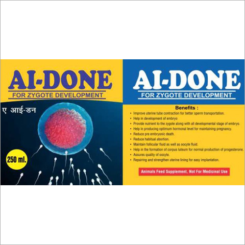 AI-Done for Zygote Development Feed Supplement