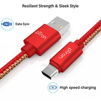 pTron Indigo 2.1A Type-C USB Cable for Charging & Data Sync - (Red)
