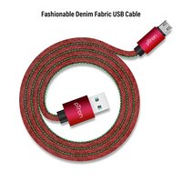 pTron Indigo 2.1A Micro USB Cable for Charging & Data Sync - (Red)