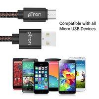 pTron Indigo 2.1A Micro USB Cable for Charging & Data Sync - (Black)