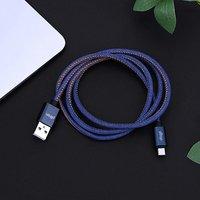 pTron Indigo 2.1A Micro USB Cable for Charging & Data Sync - (Blue)