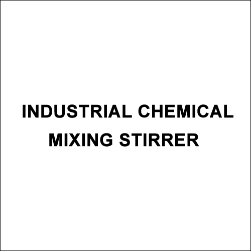 Industrial Chemical Mixing Stirrer