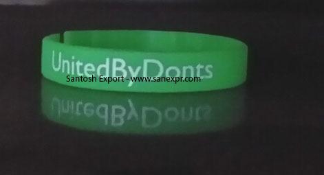 Glow in Dark Silicone Wristbands