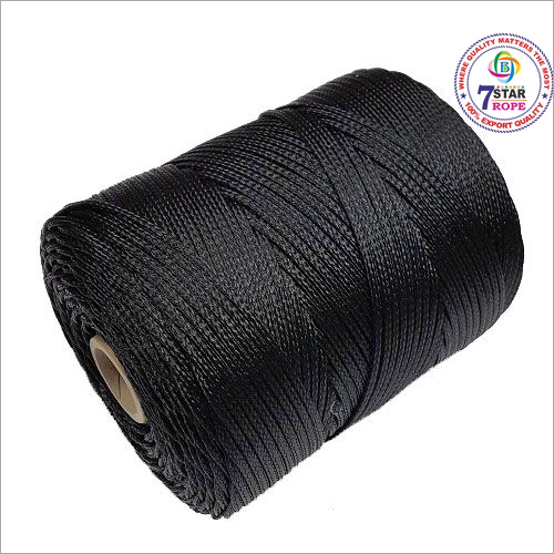 Black Braided Plastic Rope