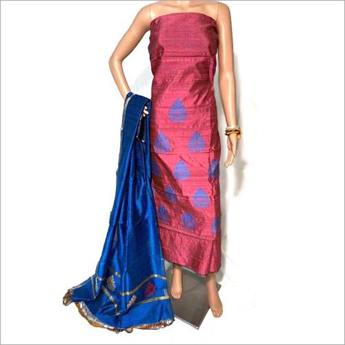 Pure Dupion Raw Silk Salwar Suit
