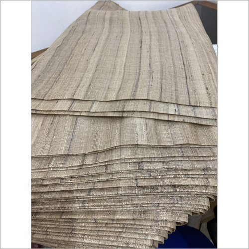 Pure Gheecha Tussar Silk Running Fabric
