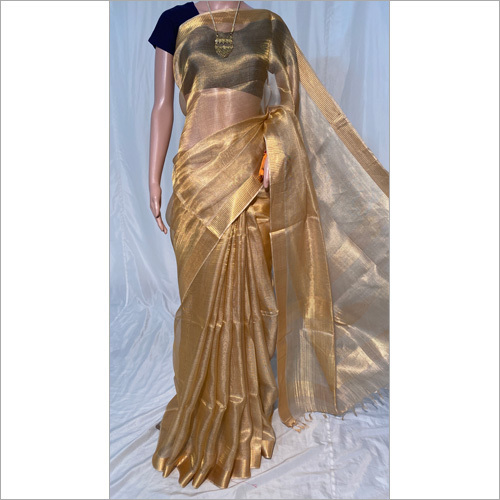 Ladies Tissue Tussar Silk Saree