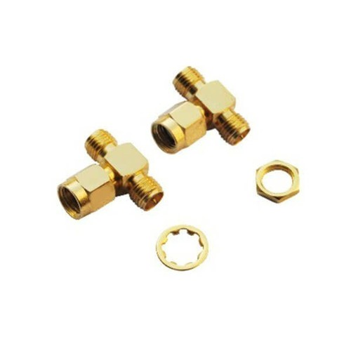 SMA Connector Adapters T Type Male-RP Jack-RP Jack