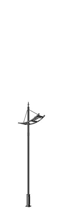 LED flood light pole