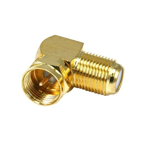 F Connector Male To Female Angled Adapter