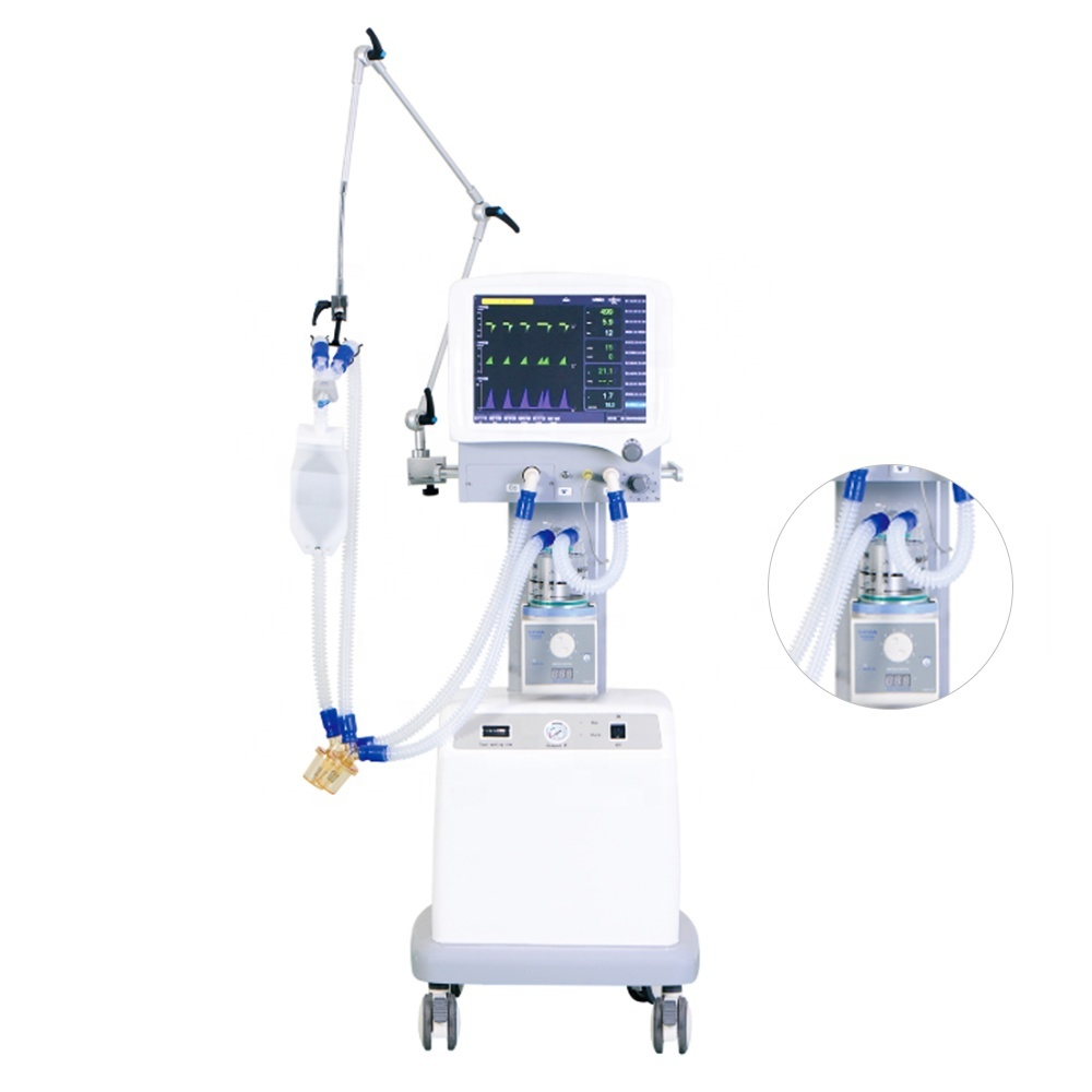 Hot selling adult and pediatric S1100 super medical ICU ventilator