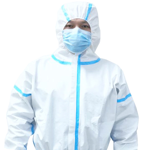 TPU Waterproof Liquid Resistance Disposable Antibacterial Non-woven Fabric Microporous Safety PP PE Disposable Medical Coverall