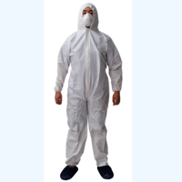 High Quality Chemical&industrial PP Disposable Microporous film Coverall with Hood and Boot