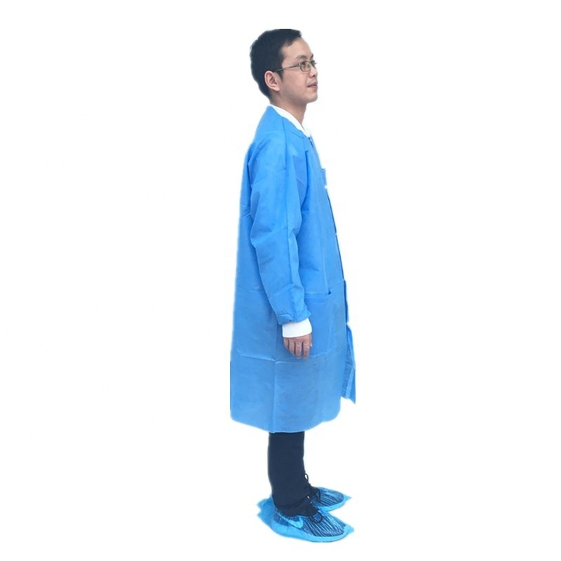 Sterilized medical SMS surgical gown disposable reinforced type doctor gown