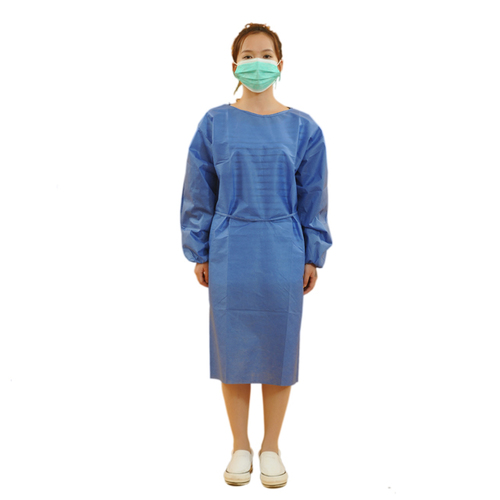 Cheap PP NonWoven Medical Supplies Surgical Disposable Hospital Gown
