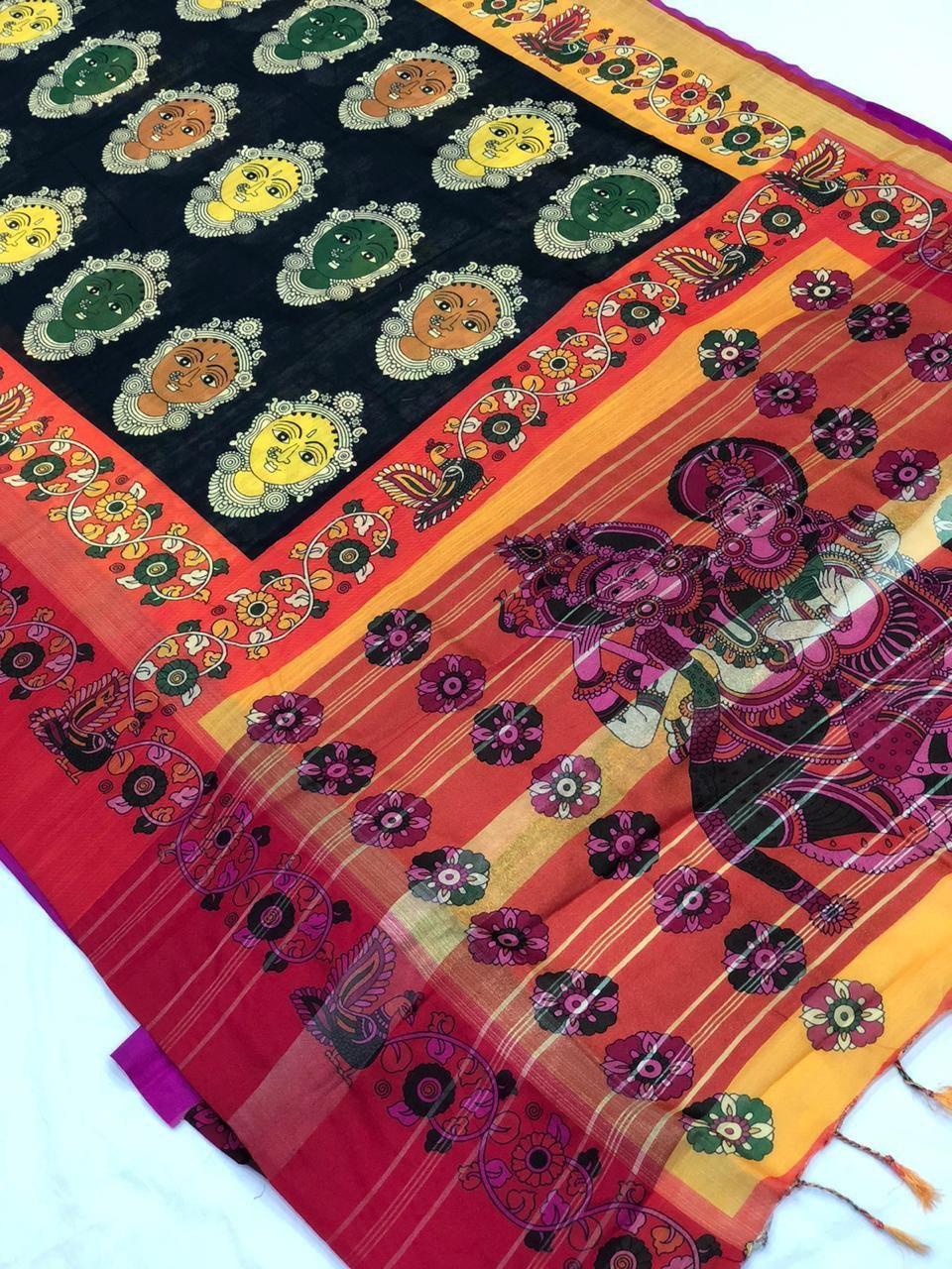 Ladies Linen Silk Sarees