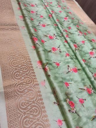 surat Silk Digital Printed Saree