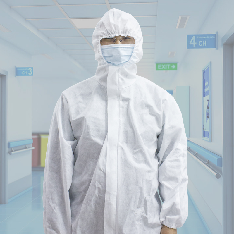 Hospital dressing gowns pp or sms non-woven fabric short sleeves disposable medical examination patient gown