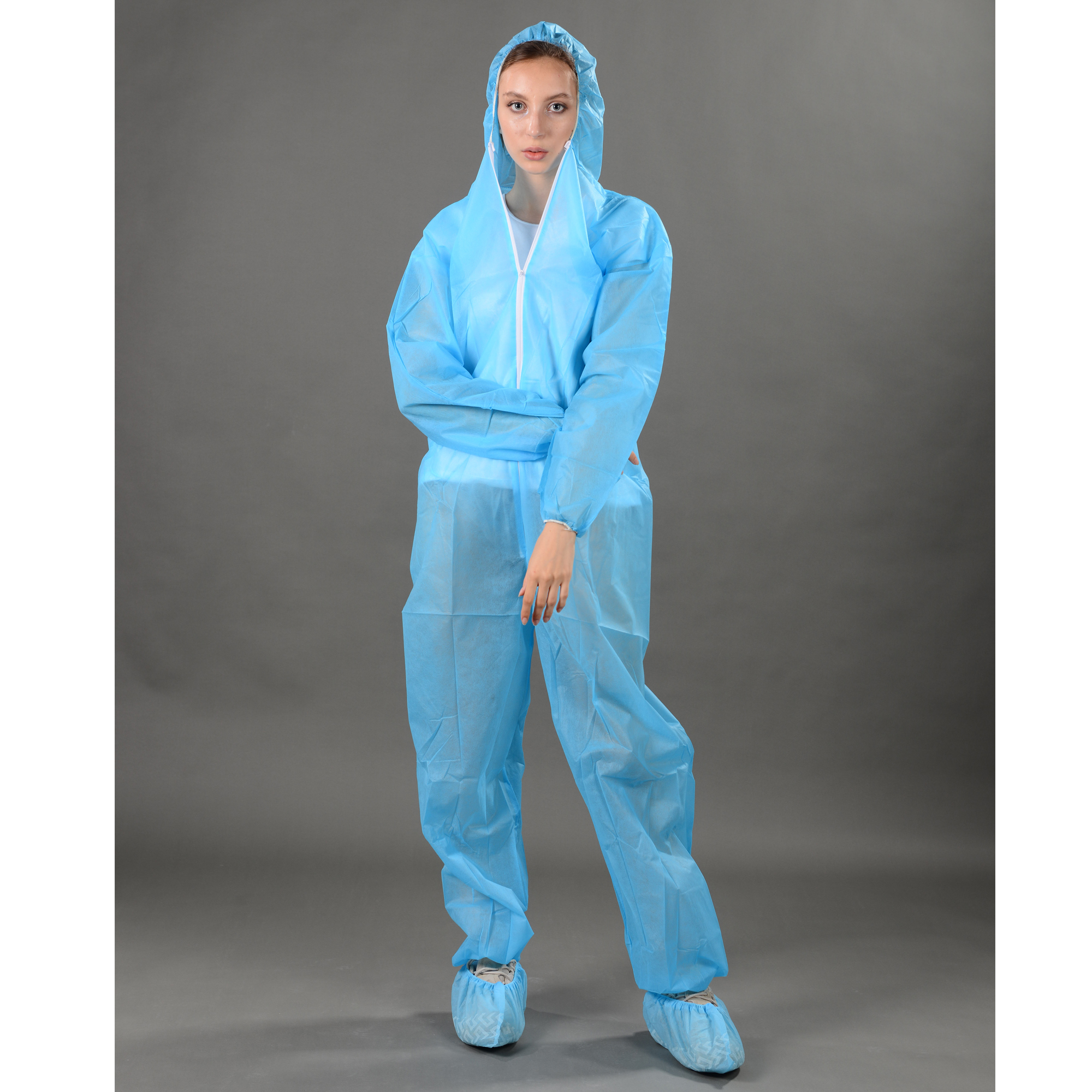 Nonwoven disposable coverall/adult body suits SBPP/SMS medical protective gown