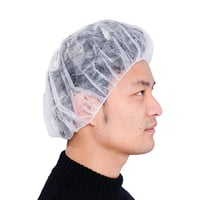 Disposable Non woven Bouffant cap polypropylene bouffant caps