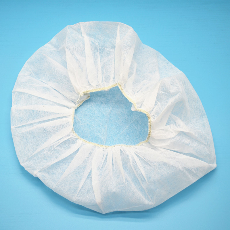Hampool Breathable Protective Non Woven Bouffant Disposable Cap