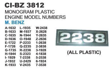 Monogram Plastic Engine Model no  M Benz