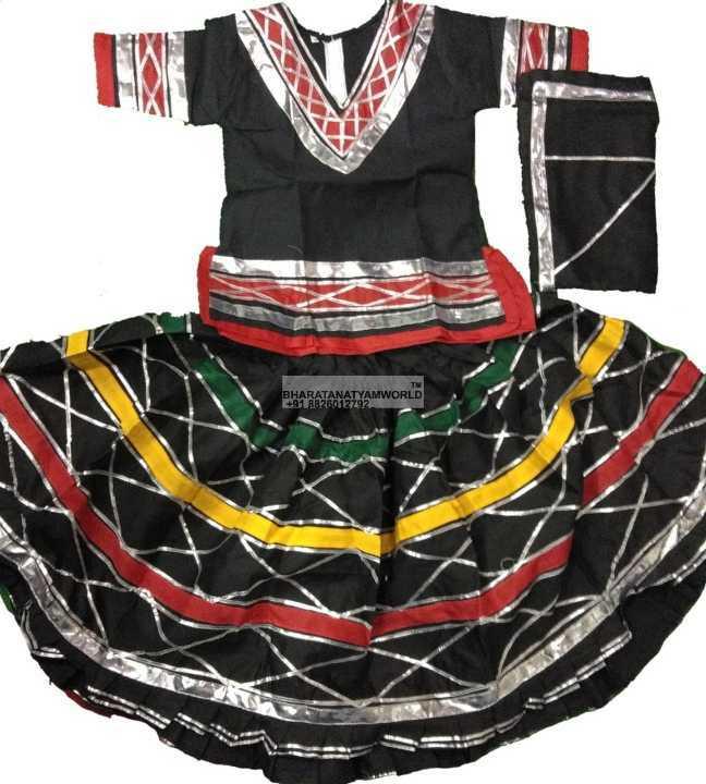 Rajasthani kalbelia costume choli, skirt, dupatta