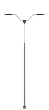 double arm street light pole
