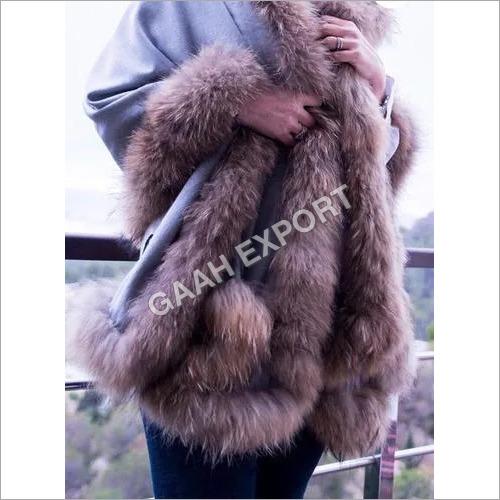 Silk Pashmina 4 Side Fur Shawls , Size-70x200cm