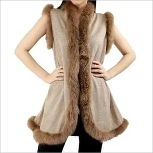 Cashmere Knitted Short Fur Shrugs, Size-Free