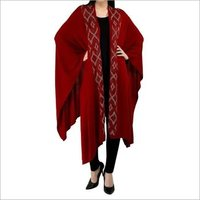 Cashmere Knitted Capes Shawls with Crystal, Size-Free