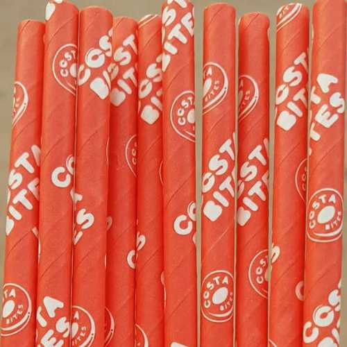 Costa Bites Custom made Paper Straw