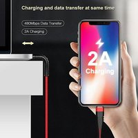 pTron Gravita 2A Micro USB Charging & Data Sync USB Cable - (Red)