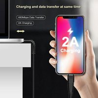 pTron Gravita 2A Type-C USB Charging & Data Sync USB Cable - (Black)