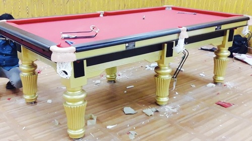Red Pool Board Table