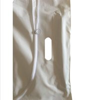 PVC white body bag with 4 handles in stock fast delivery CE FDA certificate